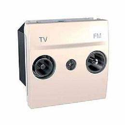 Zásuvka TV-R koncová,marfil...